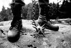 "Høst boots from the book ""True Norwegian Black Metal"" (May 2008) by the photographer Peter Beste. Large HQ"