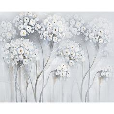 Ophelia & Co. Cyprian Flower Watercolor Paint Texture Wall Mural Size: L x W Oil Painting Flowers, Texture Painting, Watercolor Flowers, Paint Texture, Watercolor Walls, Watercolour Painting, Large Wall Murals, Brick Wallpaper Roll, Black And White Flowers