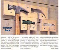 #1371 Hammer Rack - Workshop Solutions Plans, Tips and Tricks