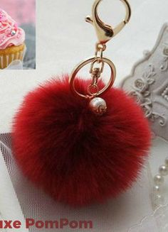 Buy my item on #vinted http://www.vinted.com/accessories/other-accessories/21438342-deluxe-wine-burgundy-pompom-with-gold-clasps-pearl-accents