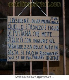 cartelli napoletani divertenti - Cartelli