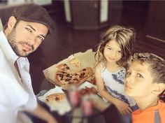 William levy with his daughter and son