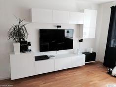 Album – 5 – Banc TV Besta Ikea, réalisations clients (série 2 – - Home Decor Living Room Units, Ikea Living Room, Living Room Cabinets, Living Room Designs, Ikea Cabinets, Ikea Tv Console, Tv Console Cabinet, Ikea Tv Stand, Muebles Living
