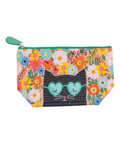 This Trixie Coated Cotton Cosmetic Bag is perfect! #zulilyfinds