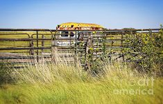 Bus Stop on Route 66 in Oklahoma - photograph by Lee Craig.  #leecraig #fineartphotography #route66