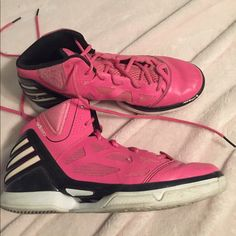 differently 9e815 971f4 adidas Shoes   Derrick Rose Adidas Basketball Shoes   Color  Black Pink    Size  7