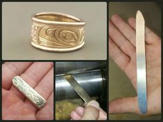 What would you make if you had a piece of yellow gold? #native #raven #gold #jewelry