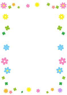 小さな花のフレーム・枠 Frame Border Design, Page Borders Design, Borders For Paper, Borders And Frames, Certificate Background, Preschool Decor, Doodle Frames, Ramadan Crafts, Cute Frames