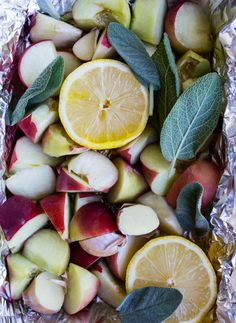 oven-roasted peach endive salad | Vibrant Food Stories