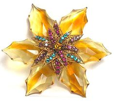 Miriam Haskell Brooch c. 1960s. Pretty. K. Another Miriam Haskell.  B.