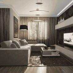 Дизайн гостиной 18 метров фото в современном