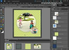 Using A PSD Template In Photoshop Elements-excellent tutorial and blog on PS/digital scrapbooking
