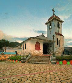 """Chapel in """"Cerrito de la libertad"""" Park, Huancayo, Junin, Peru"""