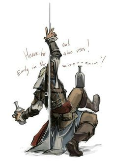 """Headcanon - If you're a crew member of the Jackdaw singing the """"drunken sailor"""", never sing. Assassins Creed Funny, Assassins Creed Black Flag, Assassins Creed Series, Assasins Cred, Assessin Creed, Cry Of Fear, Edwards Kenway, Pirates Cove, Family Album"""