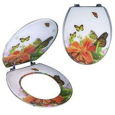 Siège WC «Papillons» Shops, Decorative Plates, Tableware, Home Decor, Papillons, Tents, Dinnerware, Decoration Home, Room Decor