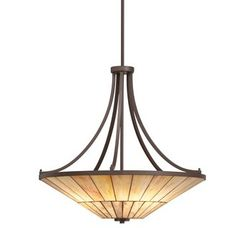 View the Kichler 65355 Morton 4-Bulb Indoor Pendant with Bowl-Shaped Glass Shade at LightingDirect.com.