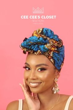 Head Wrap Styles We're taking protective styling to the next level with our gorgeous headwraps. Hair Wrap Scarf, Hair Scarf Styles, Curly Hair Styles, Natural Hair Styles, Natural Hair Twists, Pelo Natural, African Hair Wrap, African Head Wraps, Scarf Hairstyles