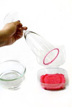 Shoptiques — Sugar Coated Champagne Glasses - Sugar Rimmed Glasses