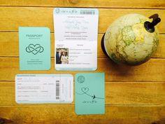 Passeport faire part mariage By Féeline création, www.feelinecreation.com, voyage, mariage, bapteme, thiffany, mappemonde, avion, coeur à l'infini, boarding pass, personnalisation