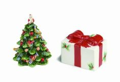 Spode Christmas Tree Present- and Tree-Shaped Salt-and-Pepper Set by Spode. Save 58 Off!. $16.99. Amazon.com Product Description                Bring a delightful touch of whimsy to the holiday table with this adorable salt-and-pepper set, which measures 3 inches tall (salt shaker) and 4-1/2 inches tall (pepper shaker). Equally charming at breakfast on Christmas morning or placed on the sideboard during an elegant dinner party, the cheery pieces provide a festive way to spice u...