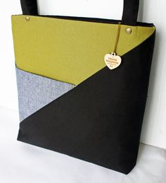 WC Tote Linen and Canvas Tote by YellowWallpaper on Etsy