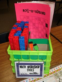 organizing math tools by groups!