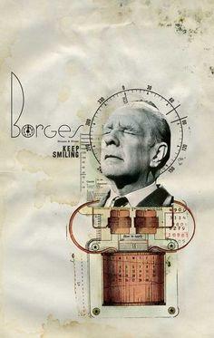 Rodrigo De Filippis   Borges Keep Smiling Collage