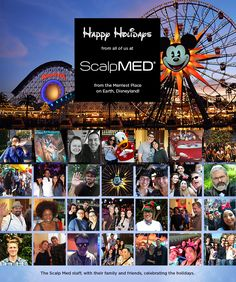 Happy Holidays from the Scalp Med Team! Scalp Med, Happy Holidays, Disneyland, Merry, Fun, Movie Posters, Products, Happy Holi, Film Poster