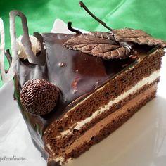 Tort cu Crema de Trufe Romanian Desserts, Romanian Food, Romanian Recipes, Food Cakes, Sweet Cakes, Something Sweet, Great Recipes, Cake Recipes, Sweet Tooth