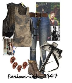 Comic Con Day 1: Daryl Dixon Cosplay by fandoms-unite-3947 on Polyvore featuring Forever 21, Anine Bing and Lucky Brand