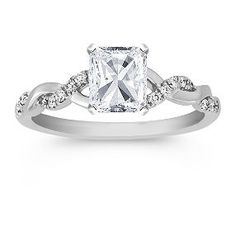 Swirl Diamond Engagement Ring, I saw at Zales Store today Wow! $$$ Lol