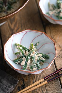 Shiraae or Mashed Tofu Salad is a classic Japanese dish made of tender green beans, creamy tofu, nutty sesame seeds, and savory miso with a touch of sugar. This refreshing vegan-friendly salad is super easy to make and can be on your dinner table in no time! #shiraae #japanesefood #greenbean #japanesetofu | Easy Japanese Recipes at JustOneCookbook.com