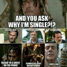 No wonder Daryl isn't hooking up with anyone 😂😂😂 Walking Dead Funny, Walking Dead Quotes, Walking Dead Tv Show, Fear The Walking Dead, Walking Dead Zombies, Norman Reedus, Twd Memes, Daryl Dixon Memes, Dead Inside