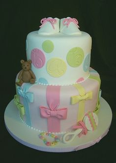 Pastel Cake - love the bottom tier design