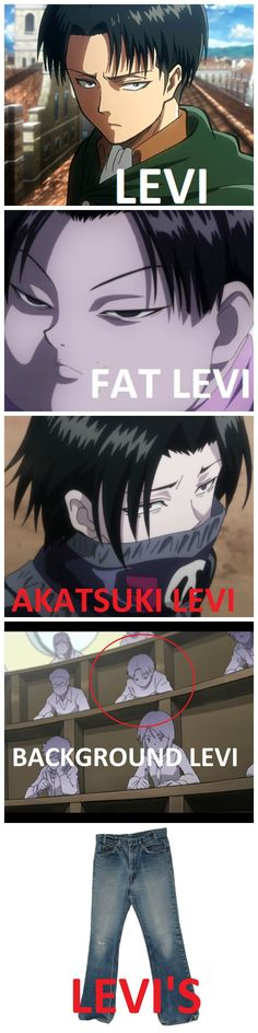 leviception. Fat Levi - Hunter x Hunter, Akatsuki Levi - Hunter x Hunter, Background Levi - (most likely) Love Stage