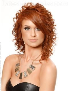 Soft Simple Copper Curly Hairstyle