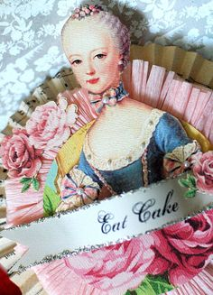 Marie Antoinette Shabby Chic Cake  Topper / Table by Joosycardco, $22.50