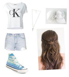 """Untitled #3005"" by lexi51485 ❤ liked on Polyvore featuring Topshop, Converse, Calvin Klein Jeans and Amber Sceats"