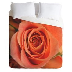 Allyson Johnson Orange Rose Bud Duvet Cover | Deny Designs Home Accessories