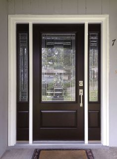 Shared Sara P About Her New Feather River Door S Preston Entry In Chestnut Mahogany
