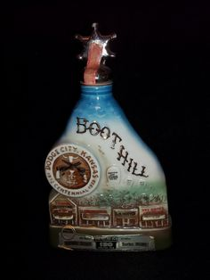 Dodge City Kansas Liquor Bottle Jim Beam.  I need to go antiquing when I am in Kansas.