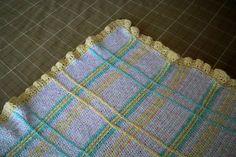 Plaid baby blanket, free pattern from Caron Yarns  . . . .   ღTrish W ~ http://www.pinterest.com/trishw/  . . . .       #crochet #afghan #throw