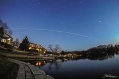 Awesome #SpotTheStation pic courtesy @TrevorMahlmann.   See when it's flying over you: http://spotthestation.nasa.gov