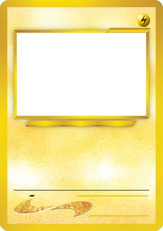 Blank Pokemon Card Template Best photos of pokemon trading card template - blank pokemon ...