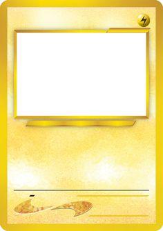 Blank Pokemon Card Classroom Pokemon Party Pokemon Birthday
