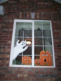 fall window painting ideas | ... window holiday window art window art window mural window painters