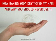 How baking soda destroyed my hair and why you should never use it - no-poo diy shampoo