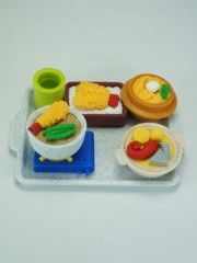 Japanese meals Iwako erasers