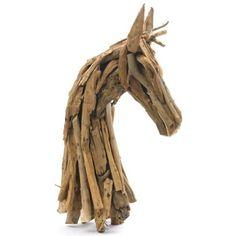 Restoration Warehouse Rustic Wood Horse Head