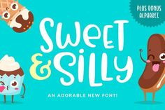 Sweet & Silly Font  @creativework247